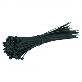 "8"" Black Cable Zip Ties 100 pc."